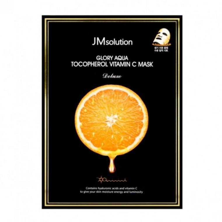 JMsolution Glory Aqua Tocopherol Vitamin C Mask Тканевая маска для выравнивания тона