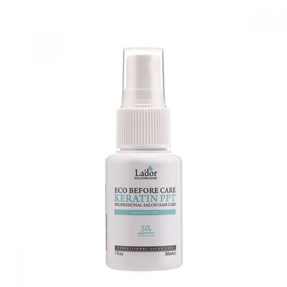 La'dor Before Keratin PPT Восстанавливающий кератиновый спрей для волос, 30мл