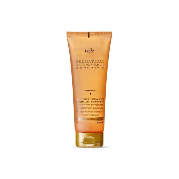 Lador Dermatical Hair-Loss Shampoo For Thin Hair Укрепляющий шампунь для тонких волос, 200мл