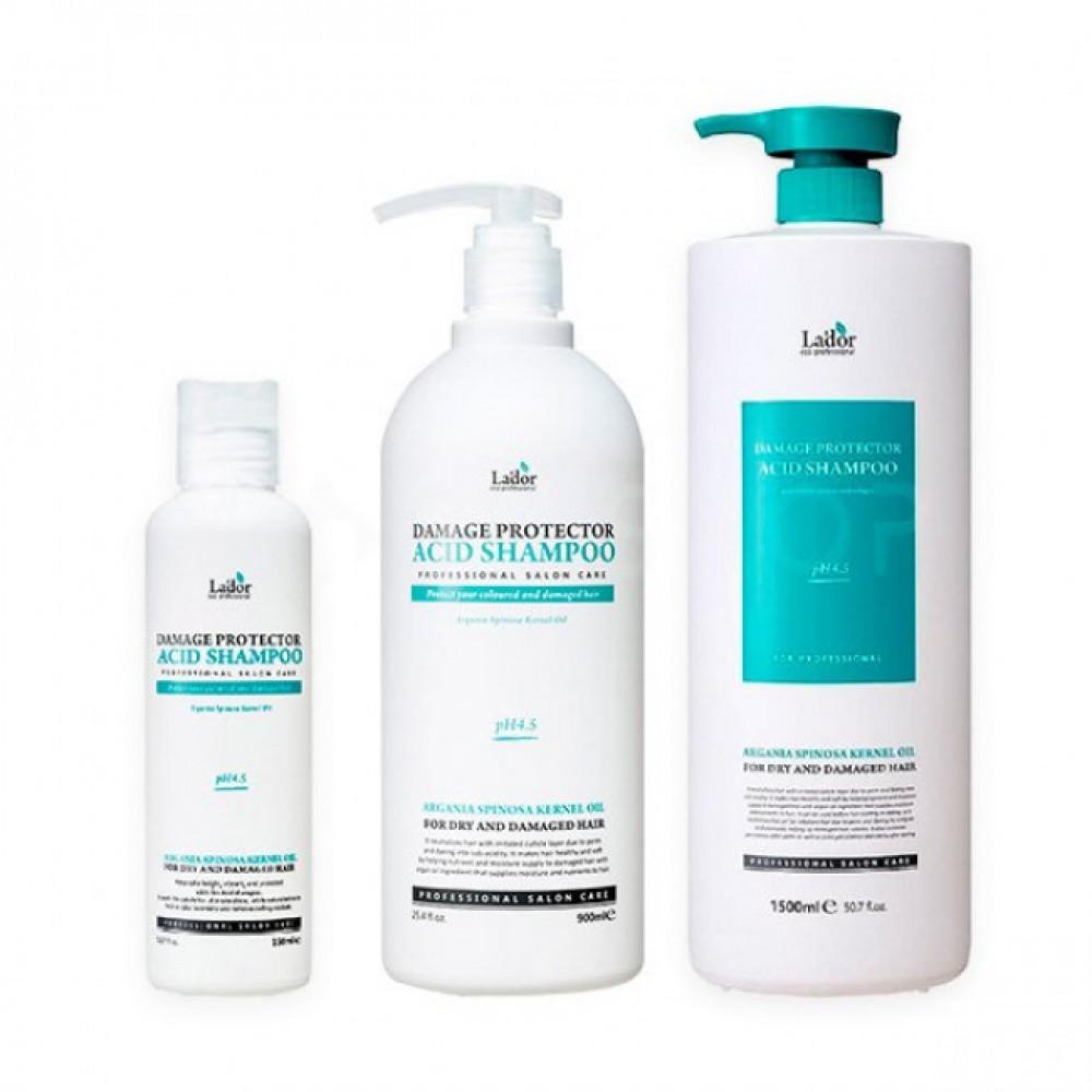 La'Dor Damaged Protector Acid Shampoo Шампунь для волос с коллагеном и аргановым маслом