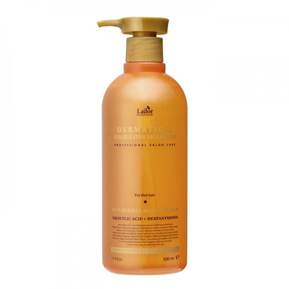 Lador Dermatical Hair-Loss Shampoo For Thin Hair Укрепляющий шампунь для тонких волос, 530мл