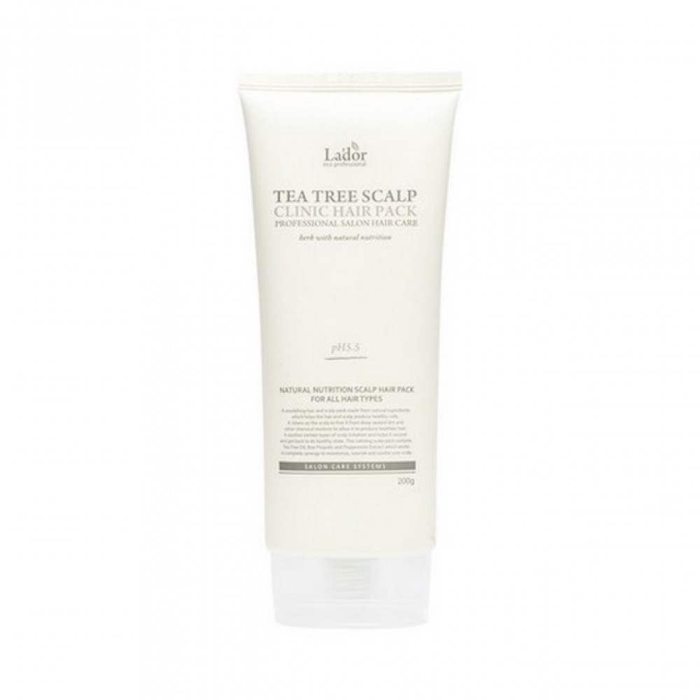 La'Dor TeaTree Scalp Clinic Hair Pack Маска-пилинг для волос и кожи головы, 200ml