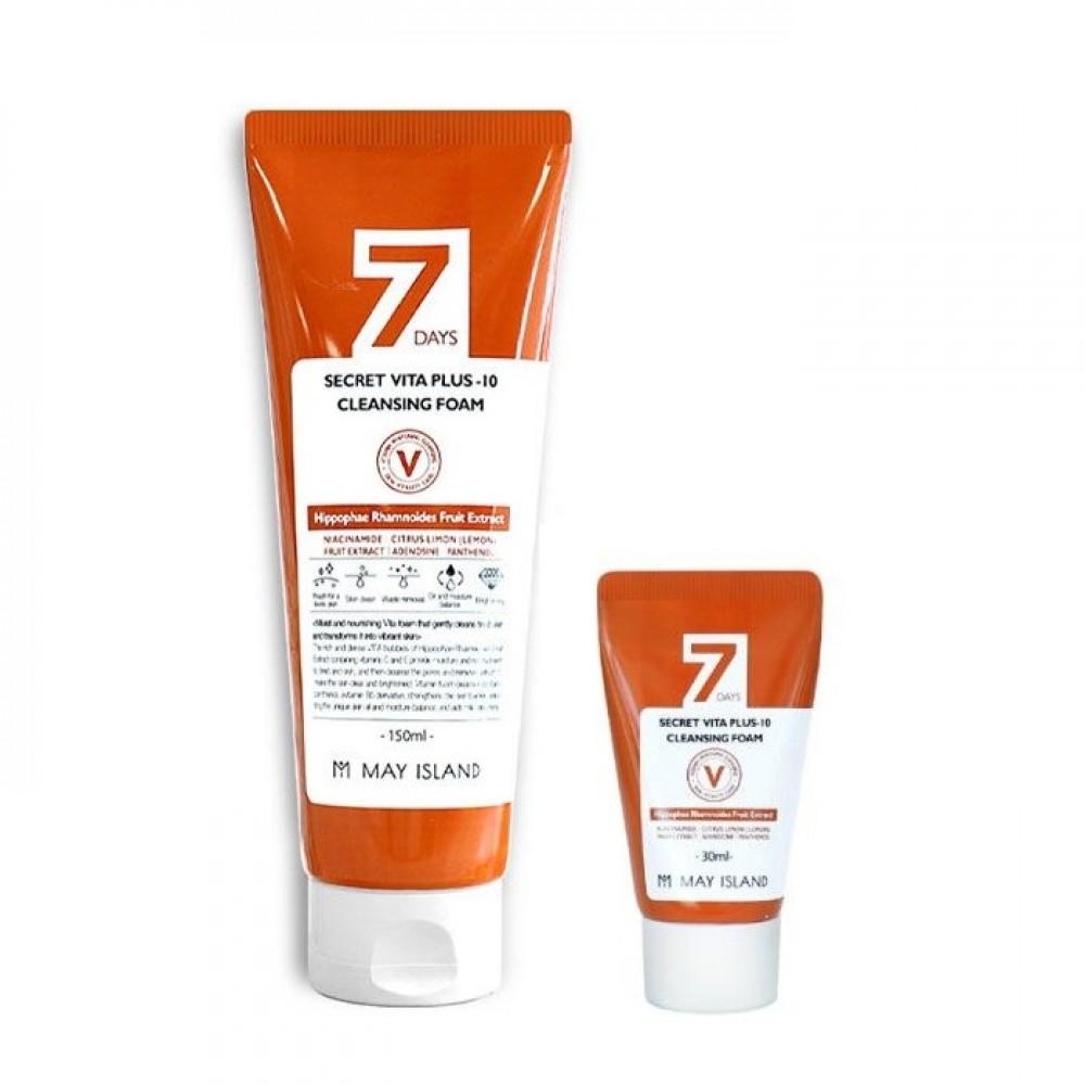 MAY ISLAND 7 Days Secret Vita Plus-10 Cleansing Foam Витаминизирующая пенка для умывания
