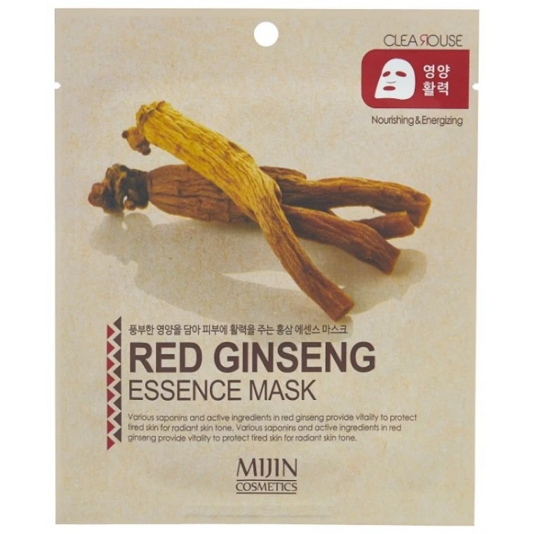 Mijin Red Ginseng Essence MaskbТканевая маска с экстрактом женьшеня