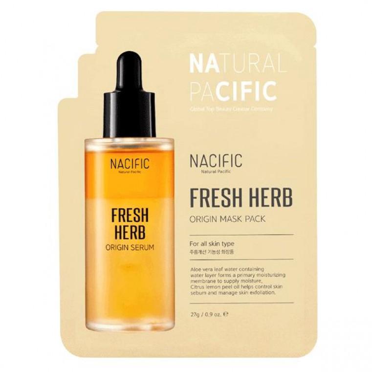 Nacific Fresh Herb Origin Mask Pack Питательная балансирующая маска на основе трав