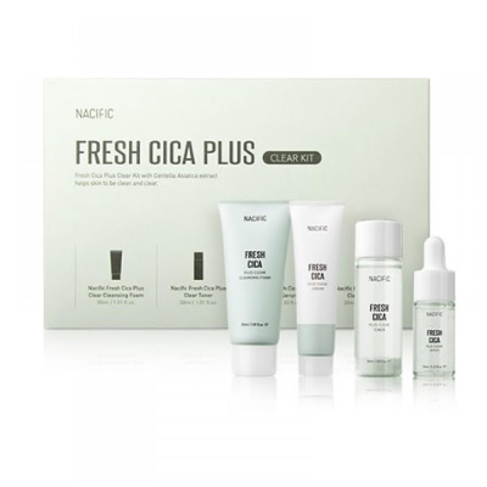 Nacific Fresh Cica Plus Clear Kit Набор миниатюр линейки с центеллой