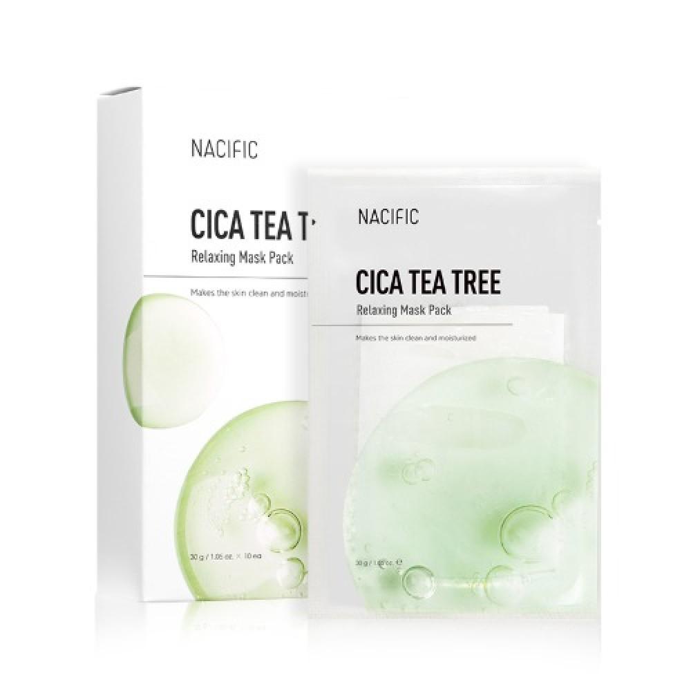 Nacific Cica Tea Tree Relaxing Mask Pack Успокаивающая маска с центеллой и чайным деревом