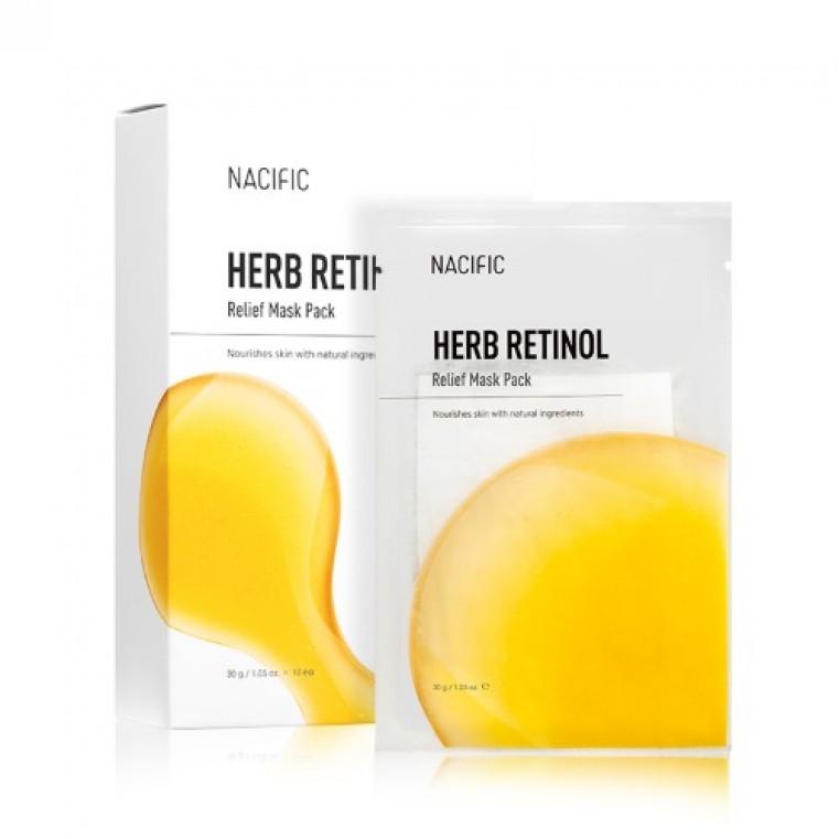 Nacific Herb Retinol Relief Mask Pack Тканевая маска антивозрастная