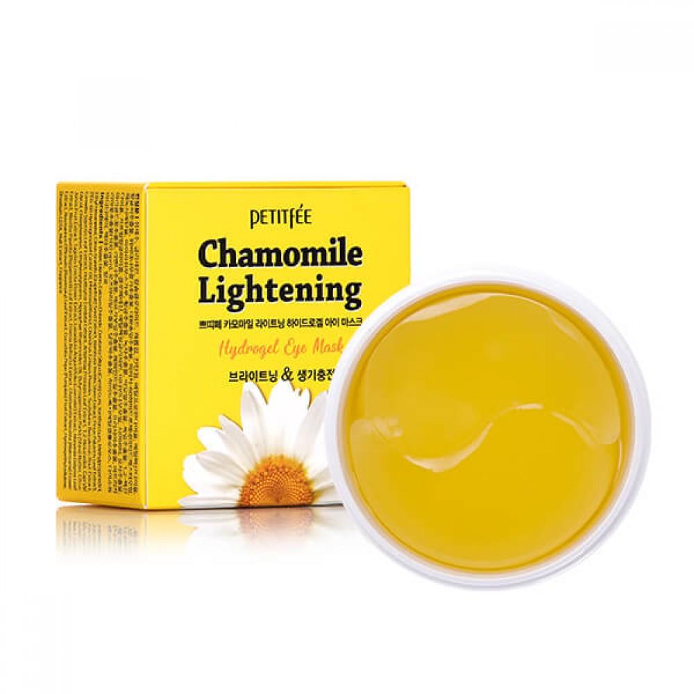 Petitfee Chamomile Lightening Hydrogel Eye Patch Патчи гидрогелевые осветляющие с экстрактом ромашки