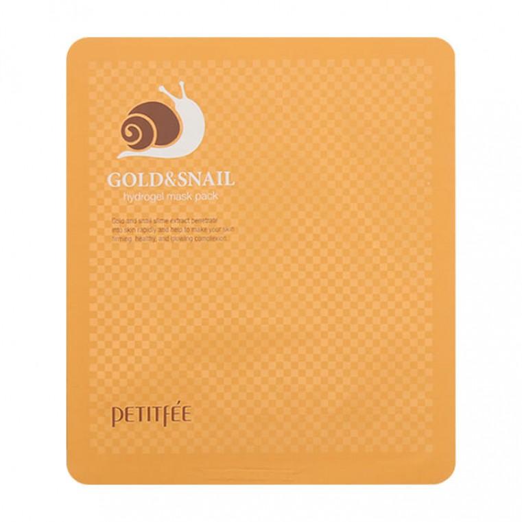 Petitfee Gold & Snail Hydrogel Mask Pack Маска для лица гидрогелевая с золотом и экстрактом слизи улитки