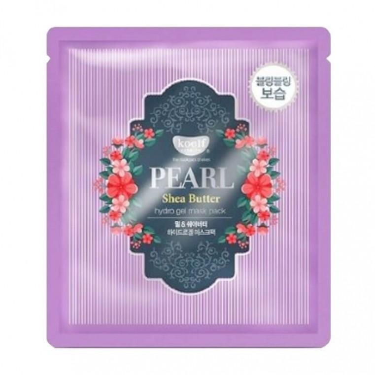 KOELF Pearl & Shea Butter Hydro Gel Mask Pack Гидрогелевая маска с жемчугом и маслом ши