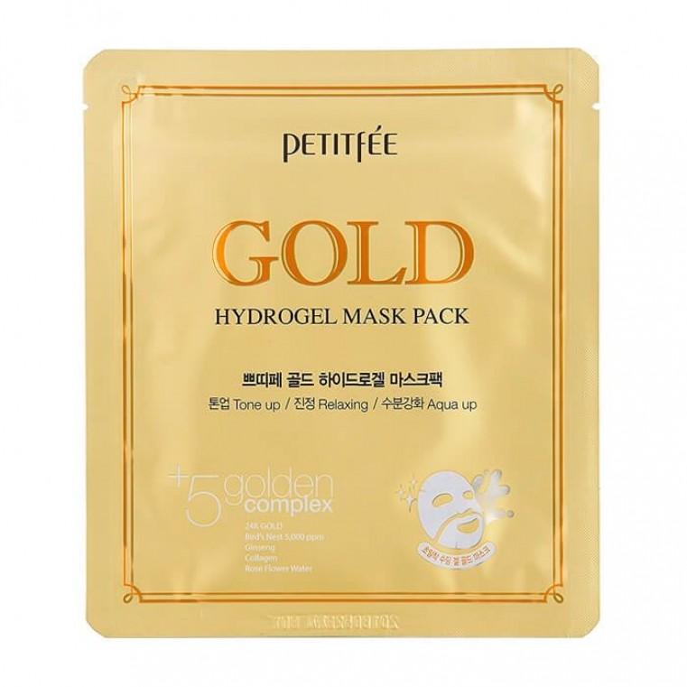 Petitfee Gold Hydrogel Mask Гидрогелевая маска для лица с золотом