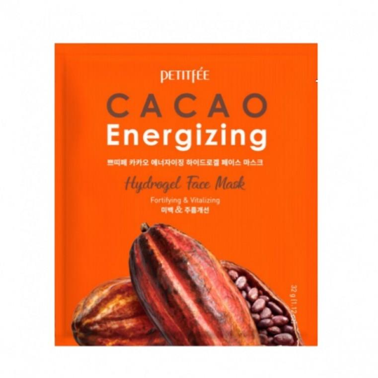 Petitfee Cacao Energizing Hydrogel Face Mask Тонизирующая гидрогелевая маска для лица с какао