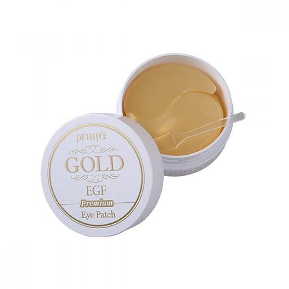 Petitfee Premium Gold & EGF Eye Patch Патчи гидрогелевые от морщин вокруг глаз с золотом и EGF