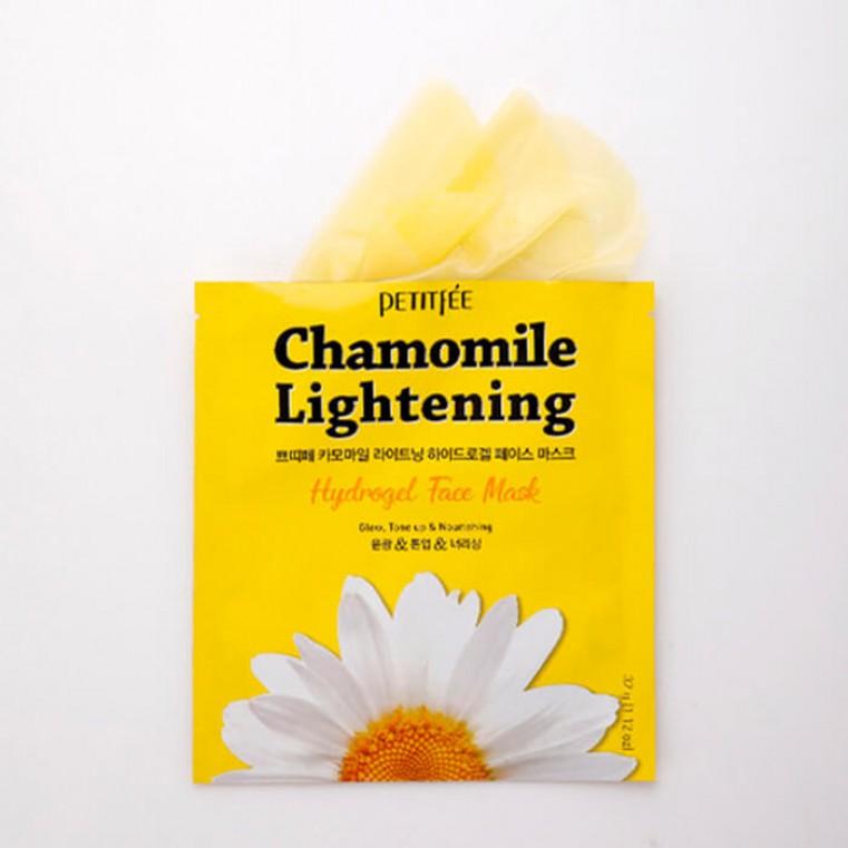 Petitfee Chamomile Lightening Hydrogel Face Mask Маска гидрогелевая успокаивающая с экстрактом ромашки