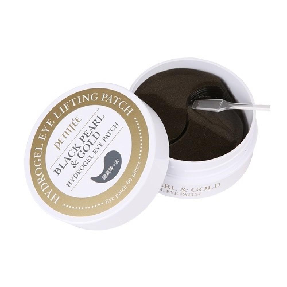 Petitfee Black Pearl & Gold Eye Patch Патчи гидрогелевые с черным жемчугом и золотом