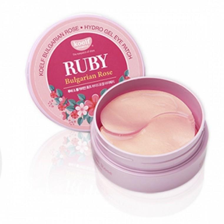 Koelf Ruby & Bulgarian Rose Eye Patch Патчи гидрогелевые с маслом болгарской розы