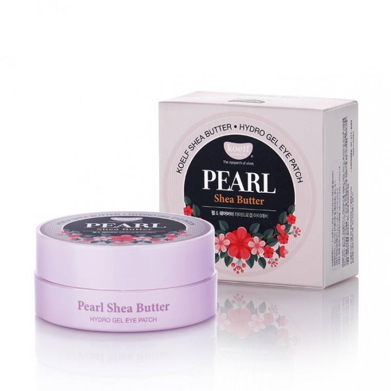 Koelf Pearl & Shea Butter Hydro Gel Eye Patch Патчи гидрогелевые с жемчугом и маслом ши