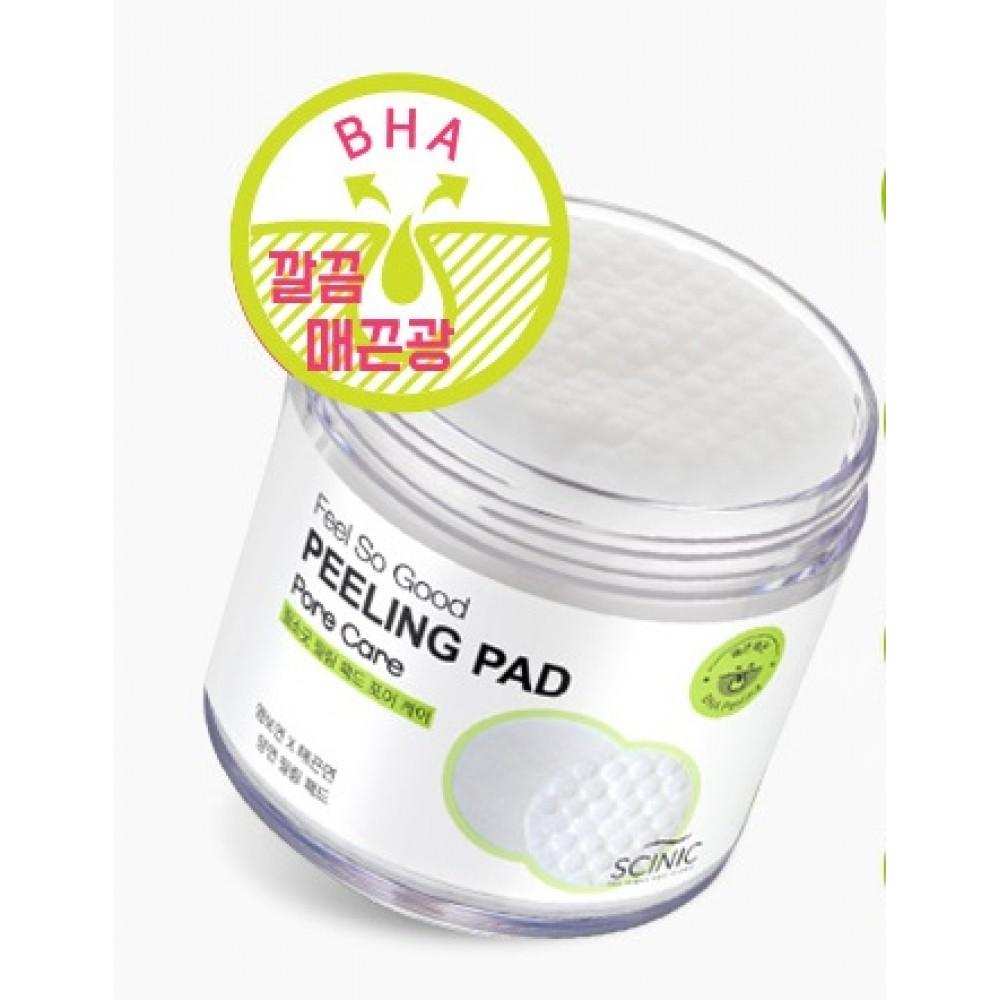 Feel So Good Peeling Pad Pore Care Пилинг-салфетки очищающие с BНA-кислотами для сужения пор
