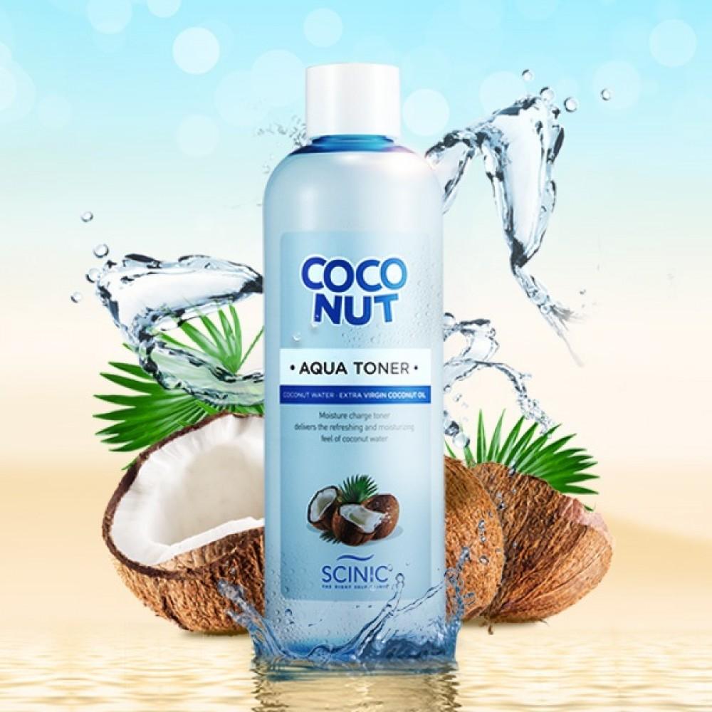Тонер увлажняющий на основе кокосового молочка: Coconut Aqua Toner Scinic