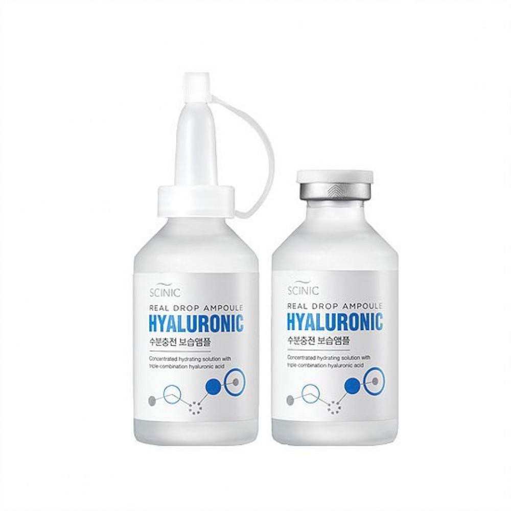 Scinic Real Drop Ampoule Hualuronic Ampoule Ампула высококонцентрированная с гиалуроновой кислотой