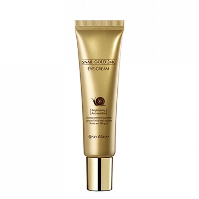 SeaNtree Snail Gold 24K Cream Крем омолаживающий с 24K золотом и экстрактом улитки