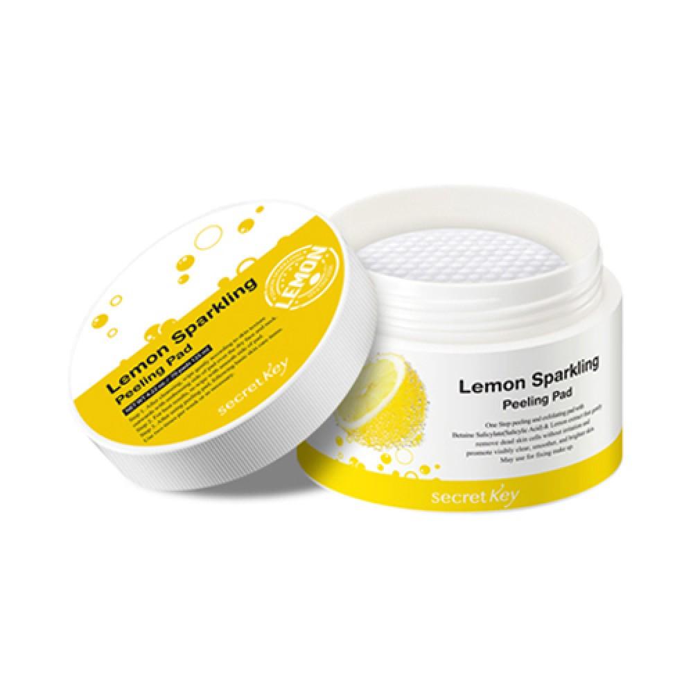 Secret Key Lemon Sparkling Peeling Pad Пилинг-салфетки с экстрактом лимона
