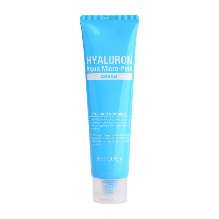 Secret Key Hyaluron Aqua Micro-Peel Cream Увлажняющий крем с гиалуроновой кислотой и эффектом микропилинга
