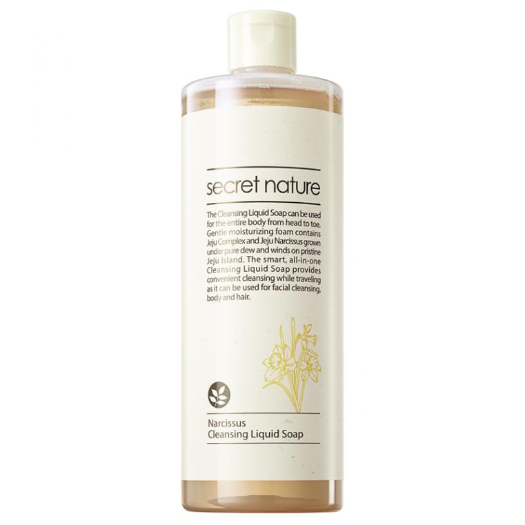 Secret Nature Narcissus Cleansing Liquid Soap Универсальное жидкое мыло для лица и тела с нарциссом