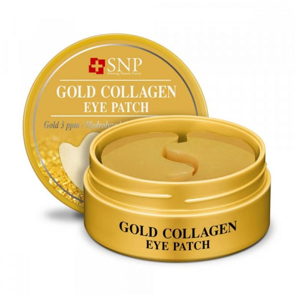 SNP Gold Collagen Eye Patch Гидрогелевые патчи для век с золотом и коллагеном