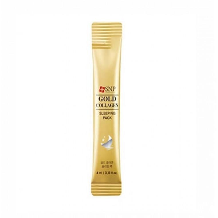 SNP Gold Collagen Sleeping Pack Антивозрастная ночная маска с коллагеном и золотом