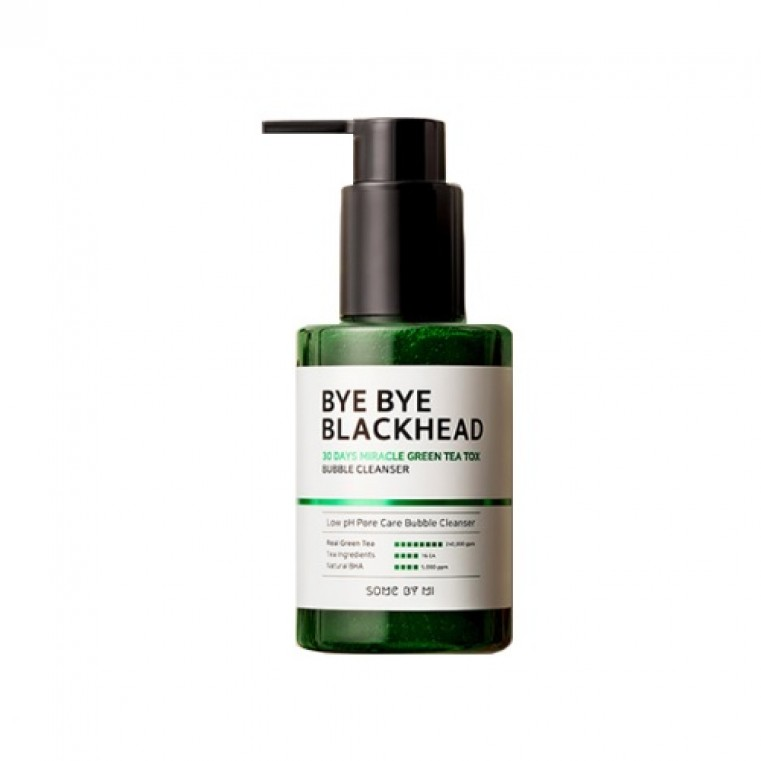 Some By Mi Bye Bye Blackhead 30 Days Miracle Green Tea Tox Bubble Cleanser Маска-пенка от чёрных точек