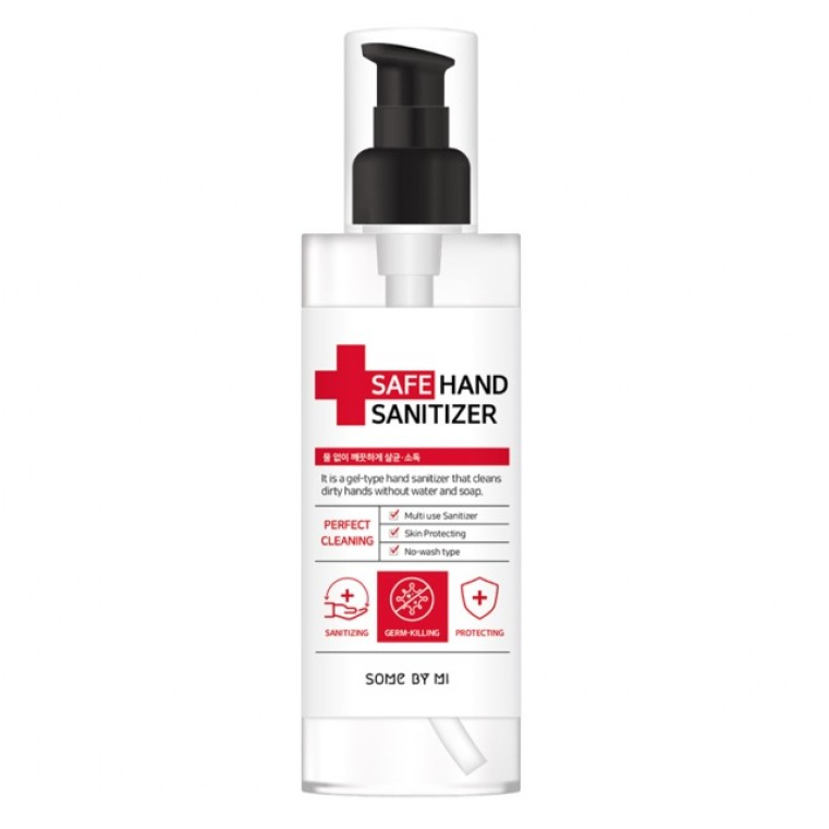 Some By Mi Safe Hand Sanitizer Антибактериальный гель для рук на основе этилового спирта, 90мл.