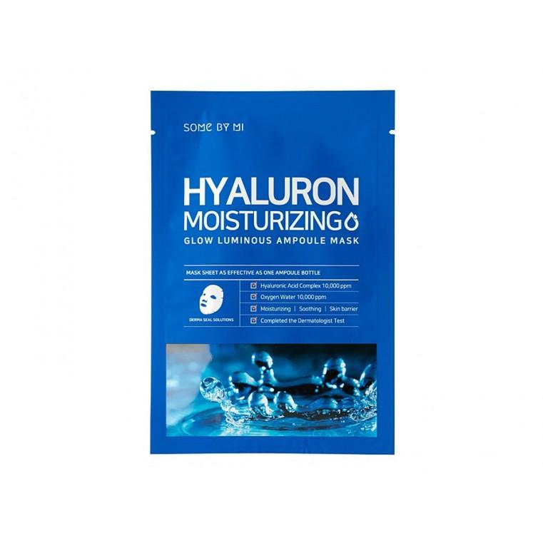 Some By Mi Hyaluron Moisturizing Glow Luminous Ampoule Mask Увлажняющая маска с гиалуроновой кислотой
