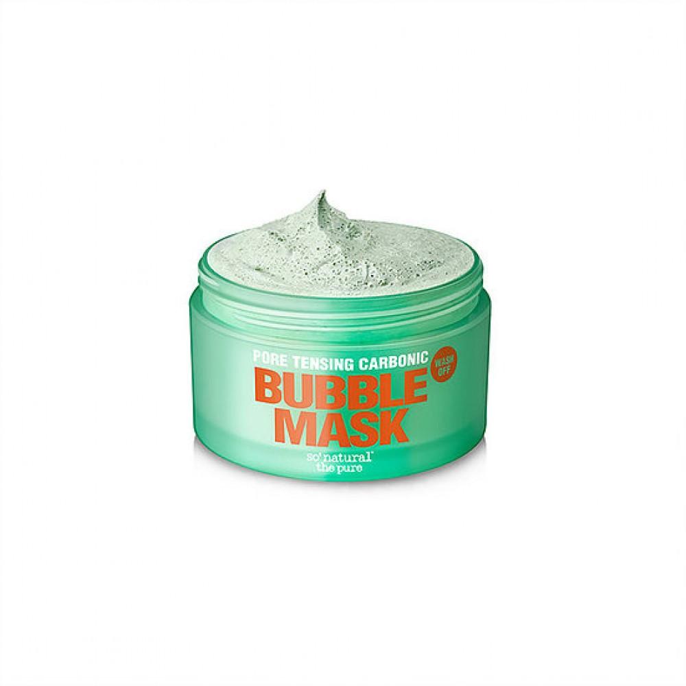 So Natural Pore Tensing Carbonic Bubble Pop Clay Mask Кислородная маска на основе французской белой глины