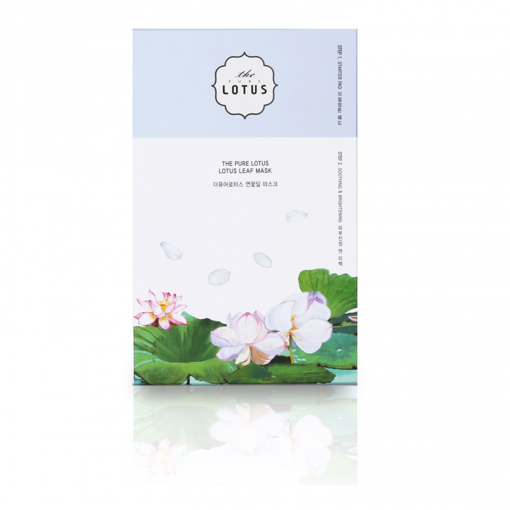THE PURE LOTUS Lotus Leaf Mask Soothing & Brightening Маска тканевая для сияния