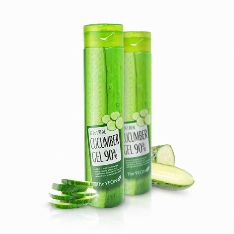 Real Cucumber Gel 90% Мультигель с экстрактом огурца 10 в 1