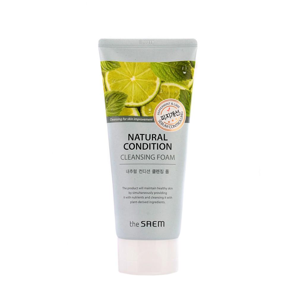 The Saem Natural Condition Cleansing Foam Пенка для умывания очищающая поры для жирной, проблемной кожи с расширенными порами