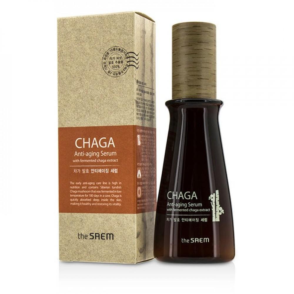 The Saem CHAGA Anti-wrinkle Serum Сыворотка антивозрастная обогащенная с экстрактом грибов чага