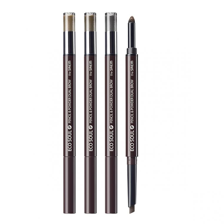 THE SAEM Eco Soul Pencil & Powder Dual Brow Карандаш-пудра для бровей
