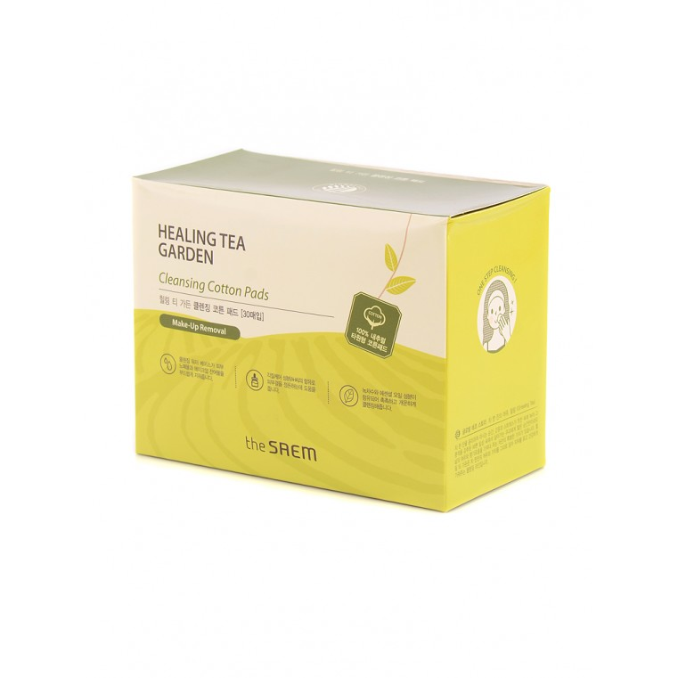 The Saem Healing Tea Garden Cleansing Cotton Pads Диски хлопковые очищающие