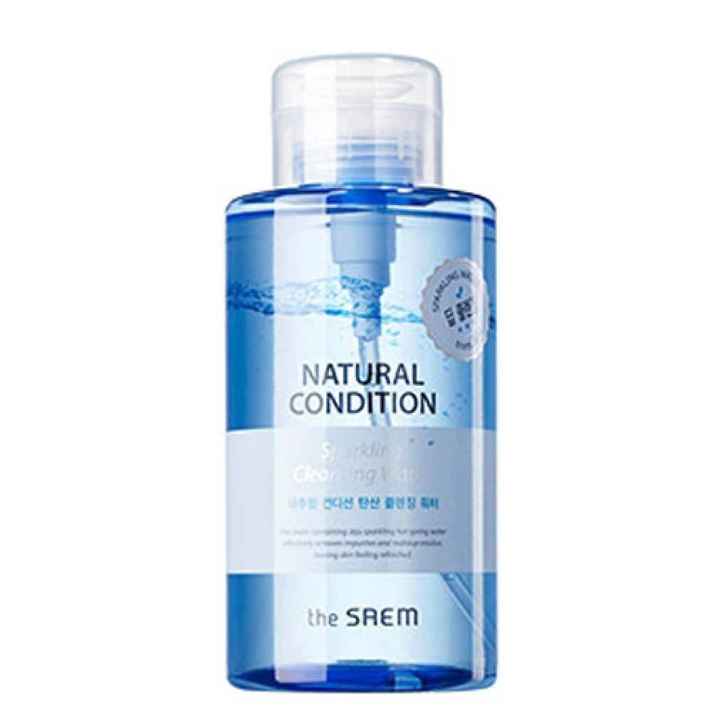 The Saem Natural Condition Sparkling Cleansing Water Очищающая вода для снятия макияжа