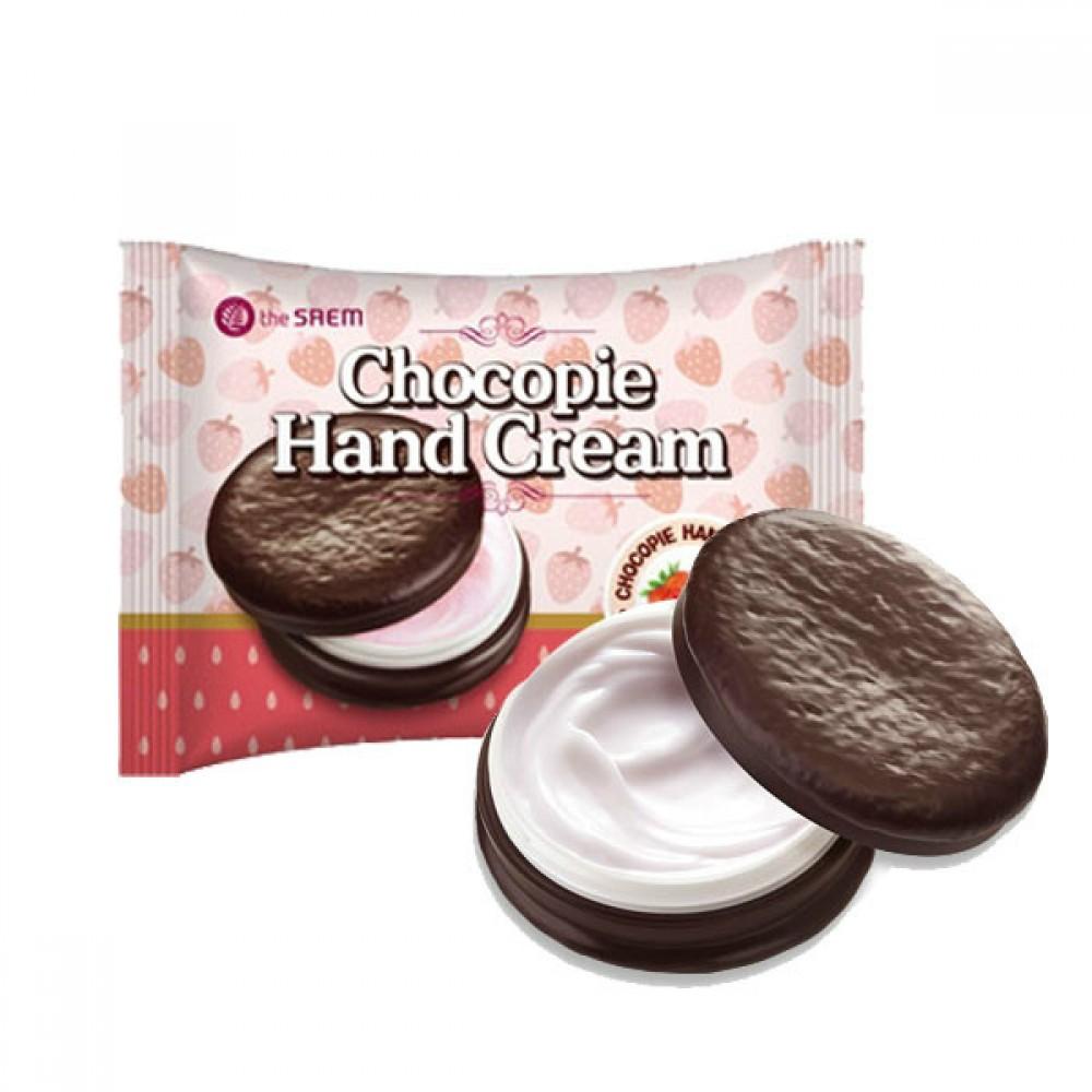 THE SAEM Chocopie Hand Cream Strawberry Крем для рук чокопай с ароматом клубники