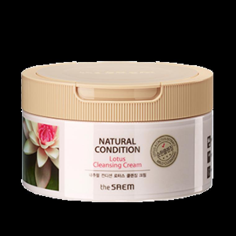 The Saem Natural Condition Lotus Cleansing Cream Очищающий крем с экстрактом лотоса