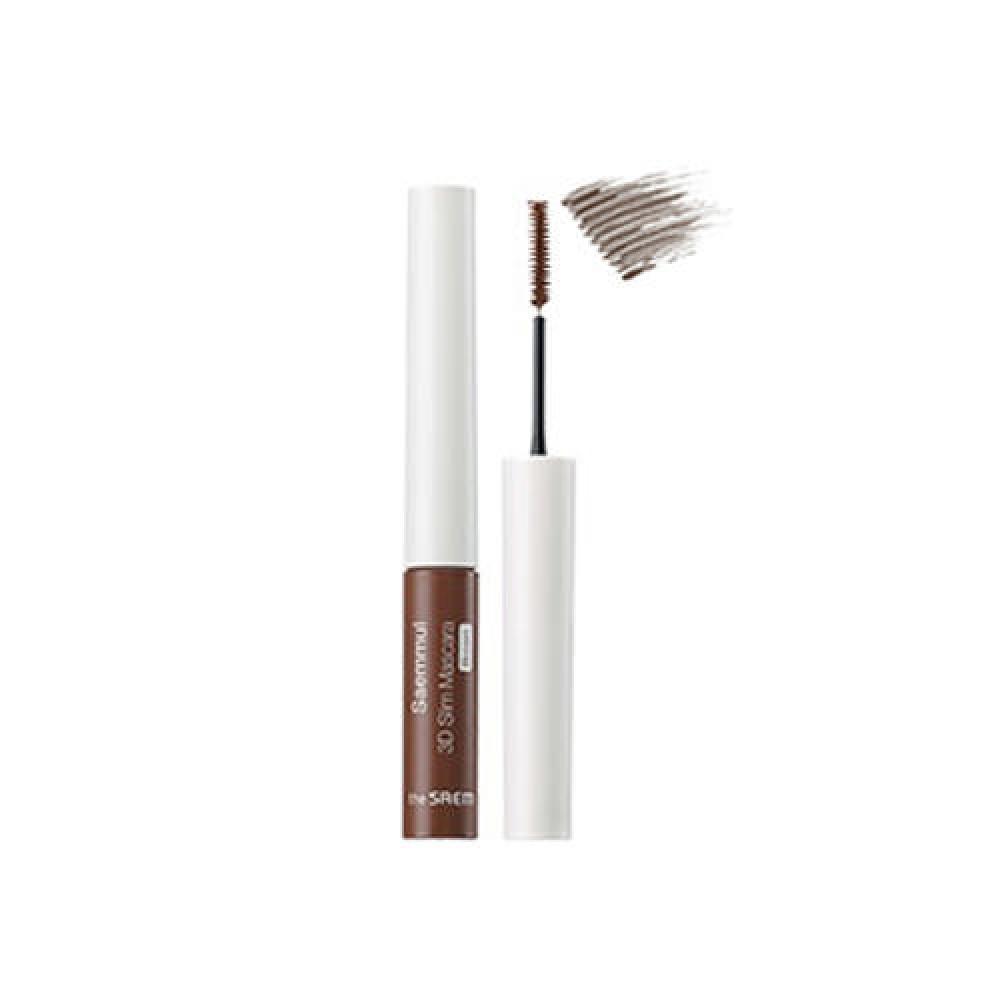 The Saem Saemmul 3D Slim Mascara  Brown Тушь для ресниц с тонкой кисточкой - коричневая