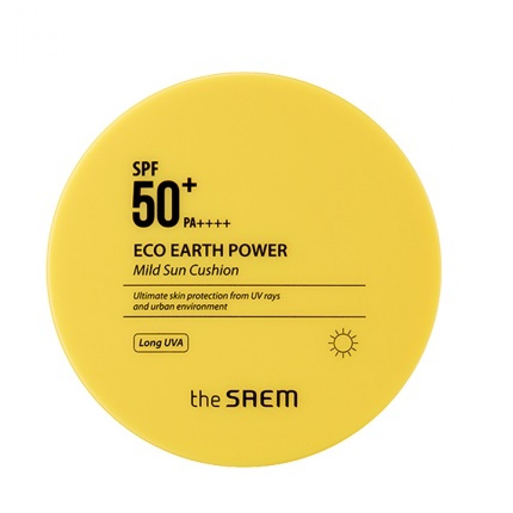 The Saem Eco Earth Power Mild Sun Cushion Кушон солнцезащитный  SPF50+ PA++++