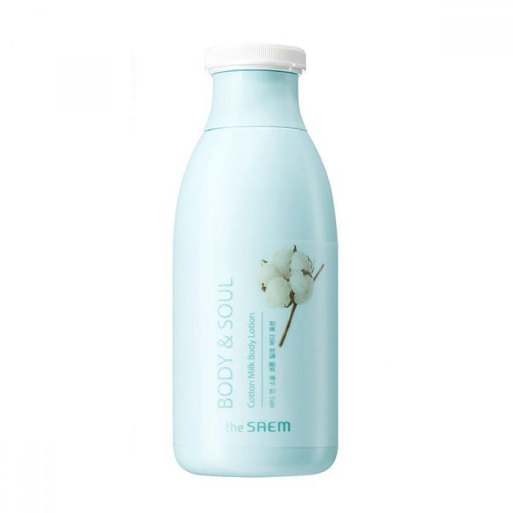 The Saem Body & Soul Cotton Milk Body Lotion Молочный лосьон для тела