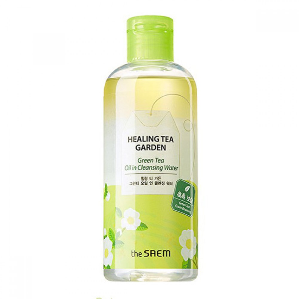 The Saem Healing Tea Garden Green Tea Oil In Cleansing Water Средство для снятия макияжа с зеленым чаем