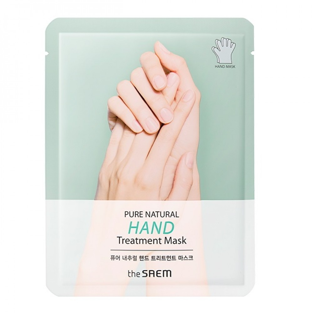 The Saem Pure Natural Hand Treatment Mask Восстанавливающие маски-перчатки для рук