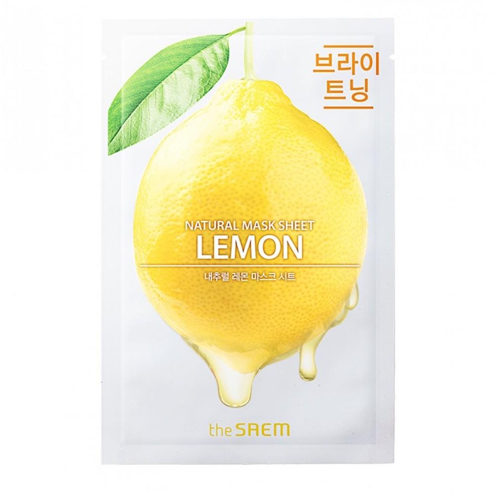 Natural Lemon Mask Sheet Маска тканевая с экстрактом лимона